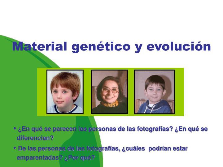 Material genético y evolución