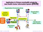 application in primary care public private by java health center information system jhcis