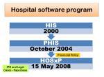 hospital software program