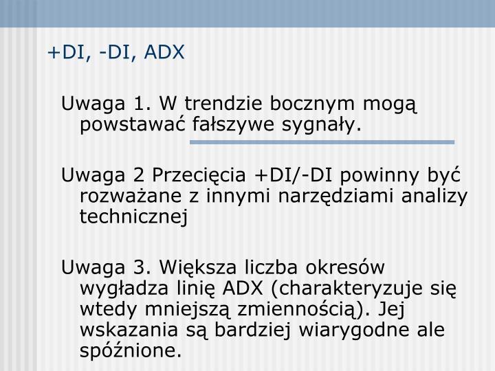 +DI, -DI, ADX