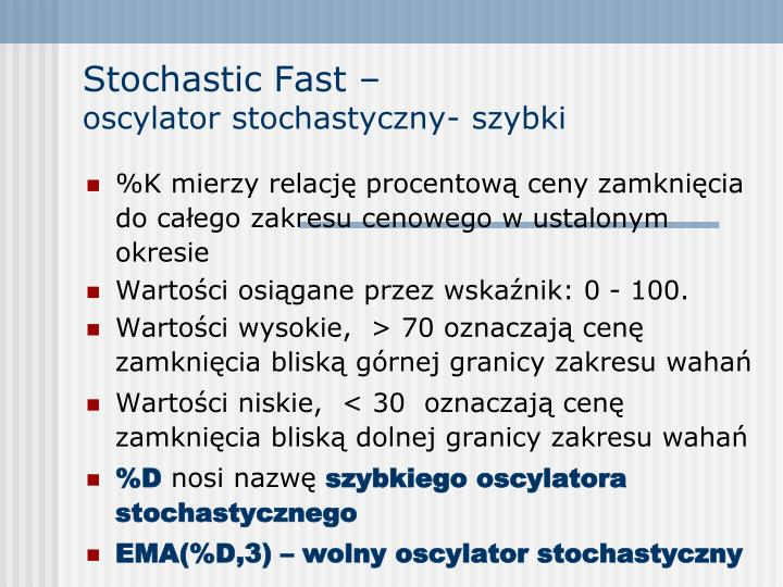 Stochastic Fast –