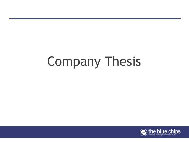 Company Thesis
