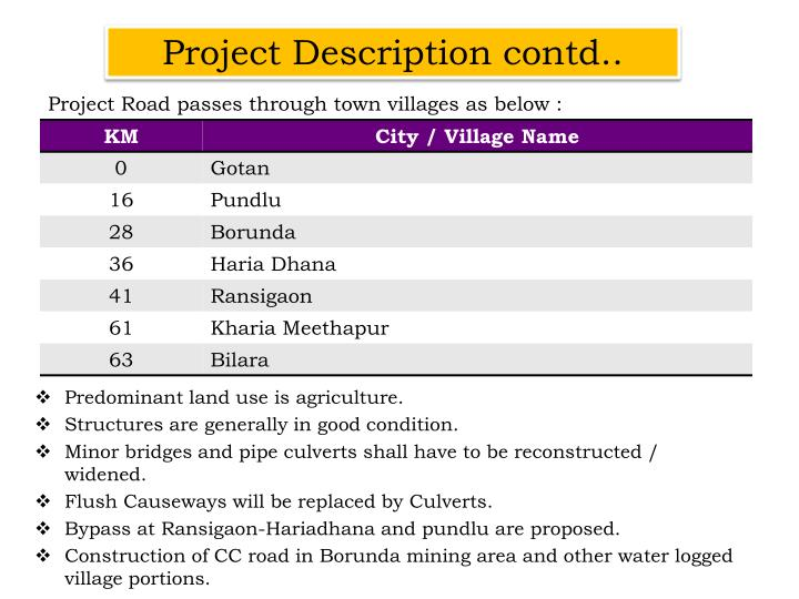 Project Description contd..