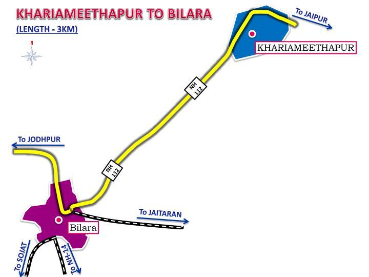 KHARIAMEETHAPUR TO BILARA