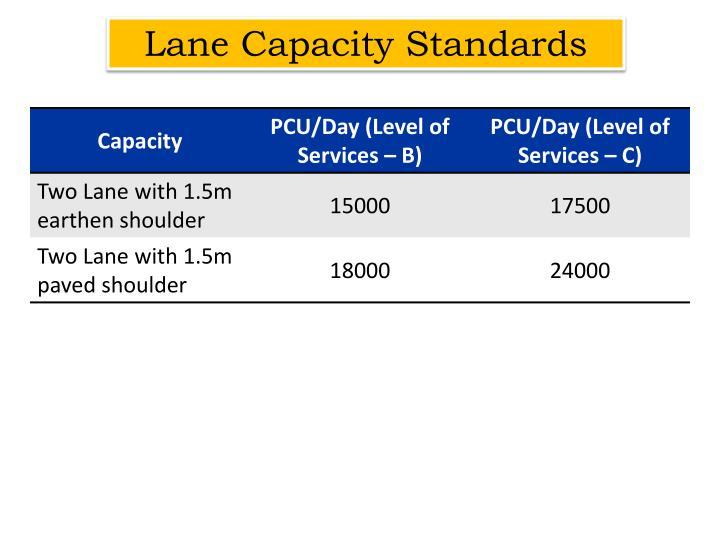 Lane Capacity Standards