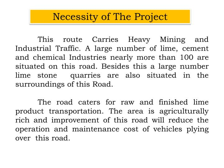 Necessity of The Project