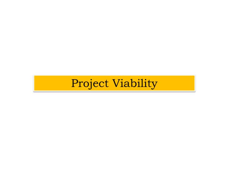 Project Viability