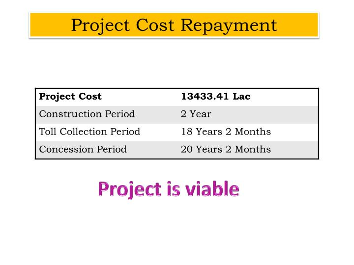 Project Cost Repayment