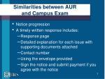 similarities between aur and campus exam