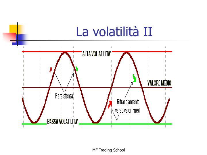 La volatilità II