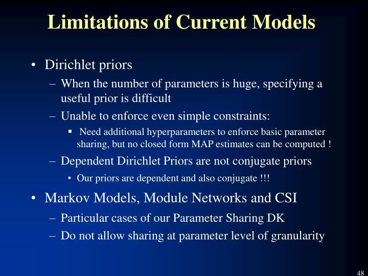 Limitations of Current Models
