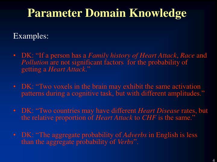 Parameter Domain Knowledge