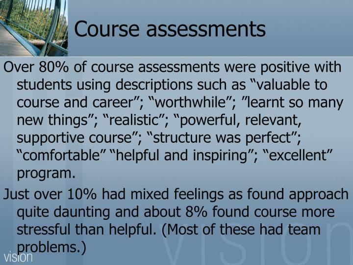 Course assessments