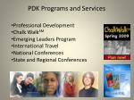 pdk programs and services