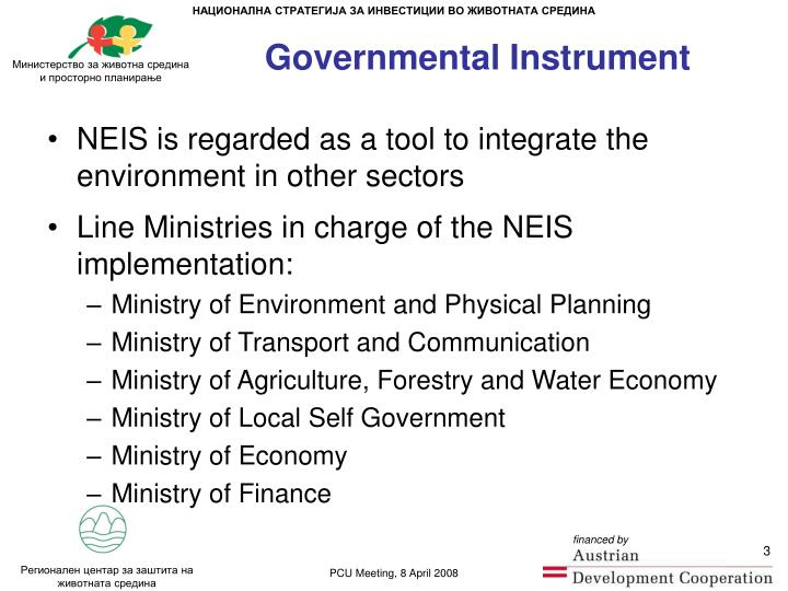 Governmental instrument