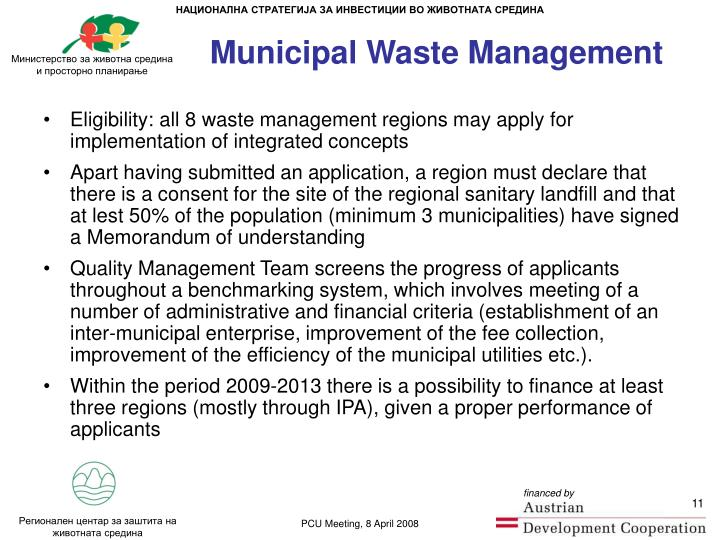 Municipal Waste Management