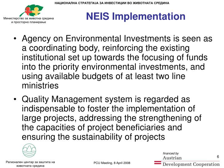 NEIS Implementation