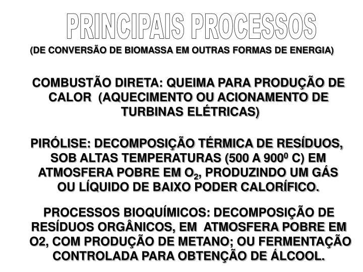 PRINCIPAIS PROCESSOS