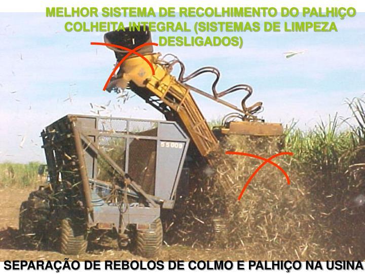 MELHOR SISTEMA DE RECOLHIMENTO DO PALHIÇO