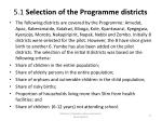 5 1 selection of the programme districts