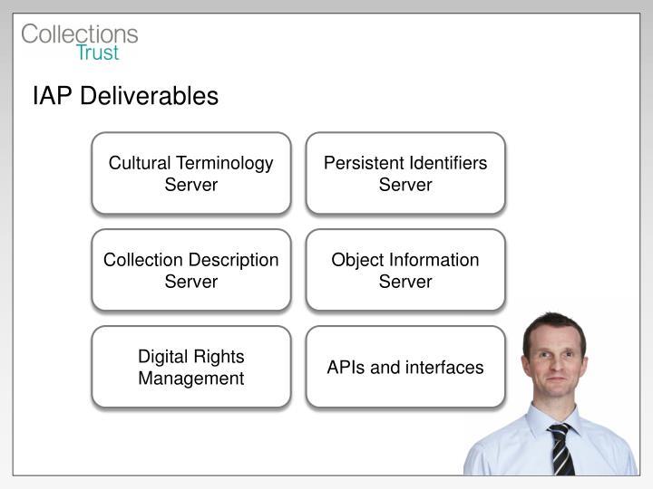 IAP Deliverables