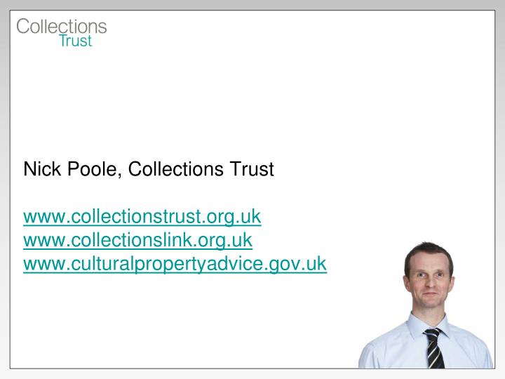 Nick Poole, Collections Trust