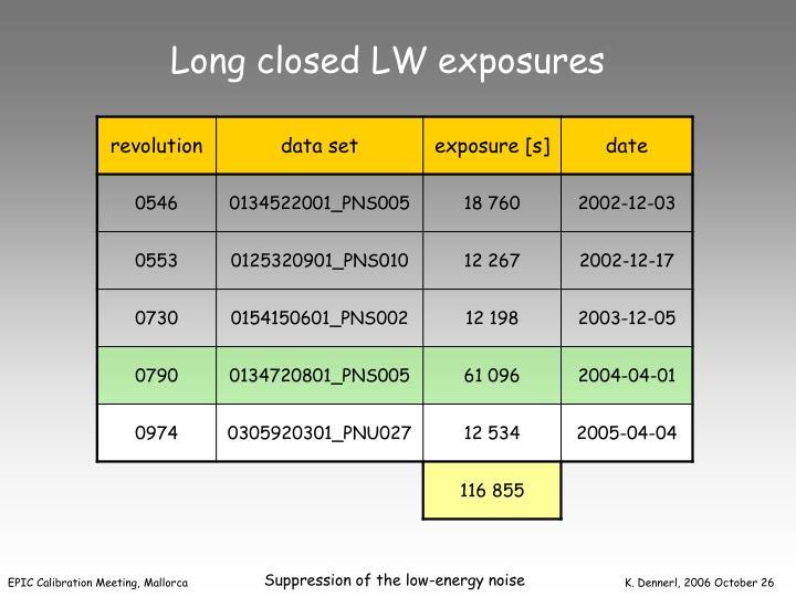 Long closed LW exposures