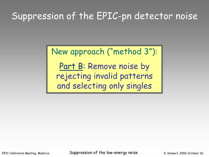 Suppression of the EPIC-pn detector noise