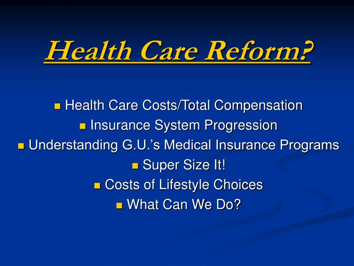 health care reform n.