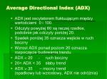 average directional index adx