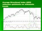 average directional index adx widoczne op nienia we wskazaniu trendu