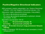 positive negative directional indicators