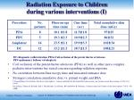 radiation exposure to children during various interventions i