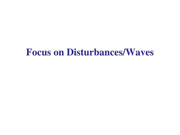 Focus on Disturbances/Waves