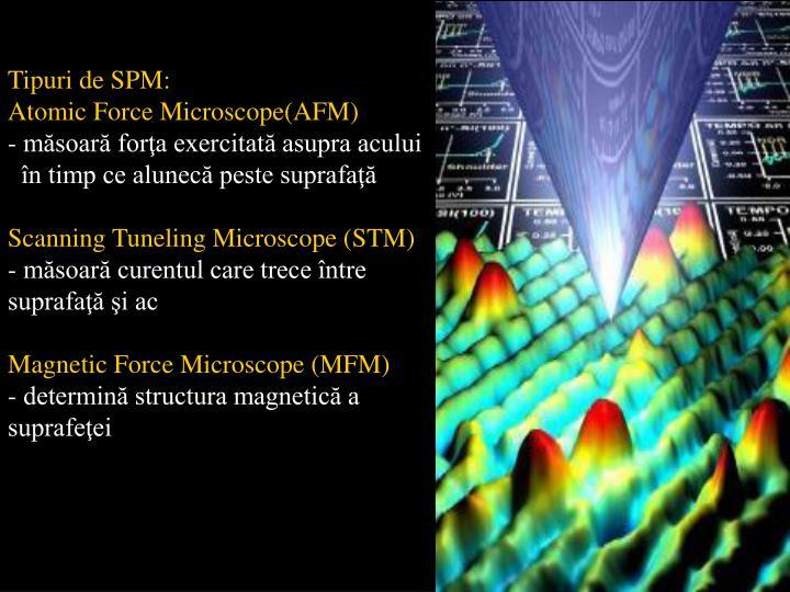 Tipuri de SPM: