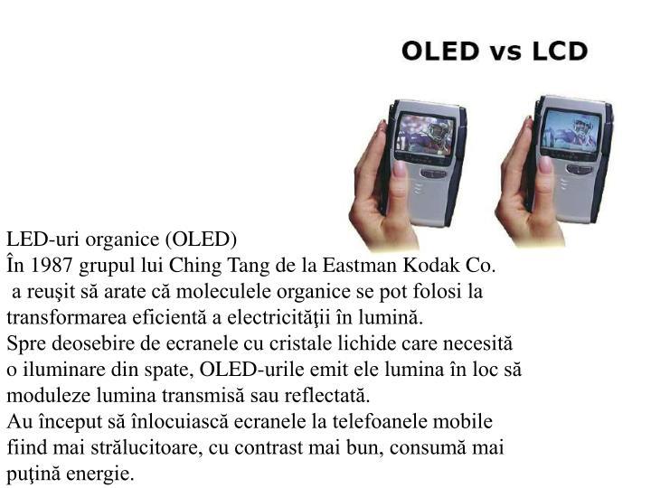 LED-uri organice (OLED)