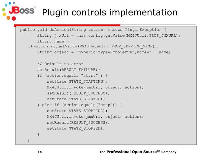 Plugin controls implementation