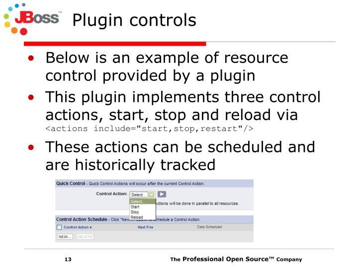 Plugin controls