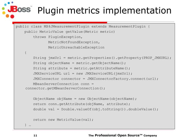 Plugin metrics implementation