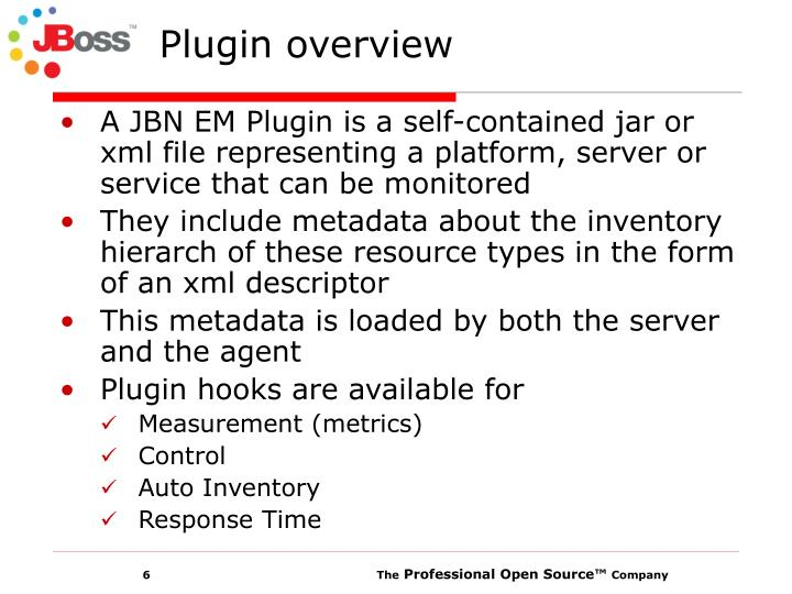 Plugin overview
