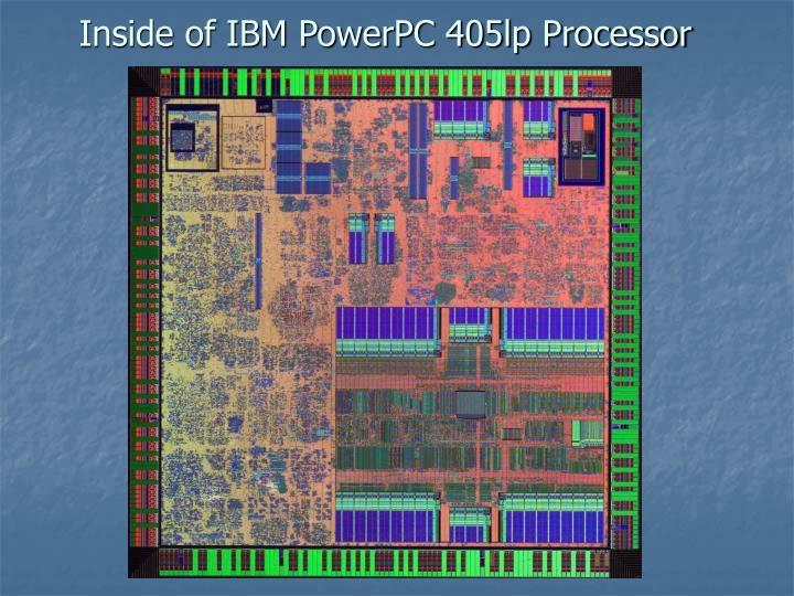 Inside of IBM PowerPC 405lp Processor