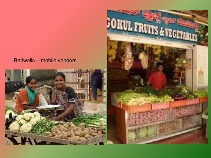 Reriwalis – mobile vendors