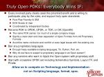 truly open pdks everybody wins if