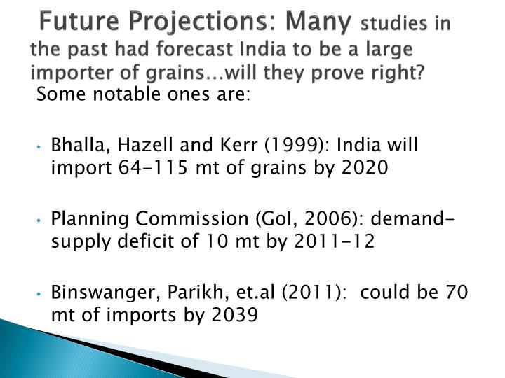 Future Projections: Many