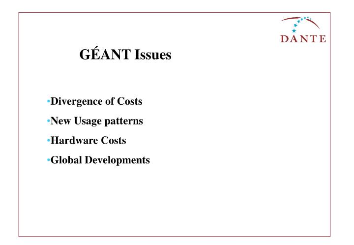 GÉANT Issues