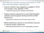 each baa has a flexible ramping requirement to meet their potential dispatch independently