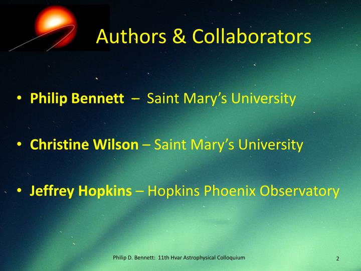 Authors collaborators