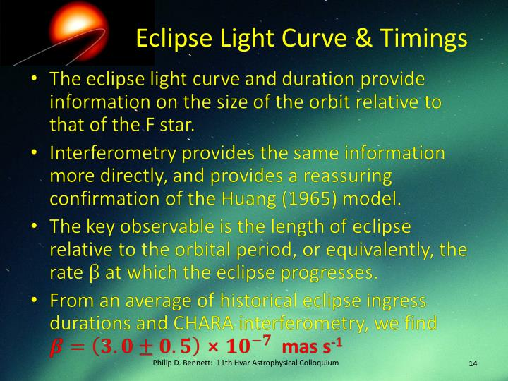 Eclipse Light Curve & Timings