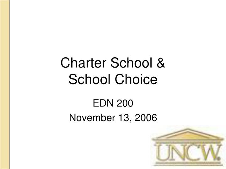 charter school school choice n.