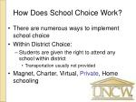 how does school choice work